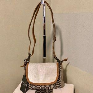 Handbags - Myra Bag Fur Flap HoneyBee Design Crossbody Purse